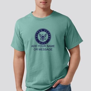 PERSONALIZED US Navy Blu Mens Comfort Colors Shirt
